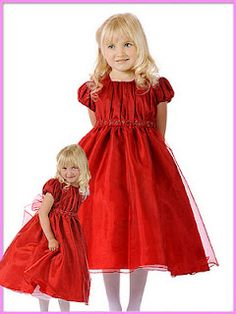 Crayon Red Tulle Holiday Dress