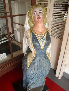 Ship's figurehead from HMS Atalanta, Nelson's Dockyard Museum by Paul McClure DC, via Flickr