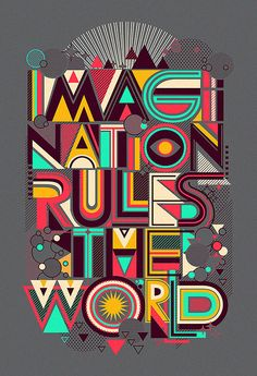 IMAGINATION.. by dzeri29, typeface, types, design, colorfull