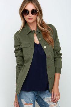 Rhythm Revolution Olive Green Jacket at Lulus.com