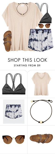 """""""vibes☀️"""" by emmig02 ❤ liked on Polyvore featuring Victoria's Secret, EAST and Birkenstock"""