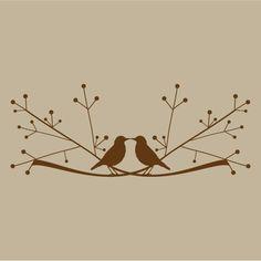 love birds on a limb vinyl sticker decal. $30.00, via Etsy. Vinyl Gifts, Stylish Baby, Vinyl Decals, Wall Decals, Sticker, Small Gifts, Pyrography, Love Birds, Wood Burning