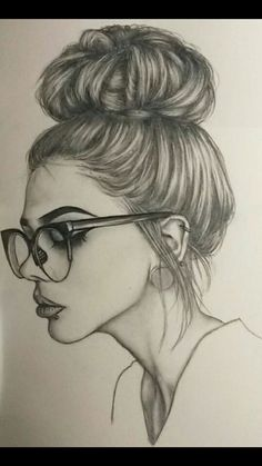 Pretty 💕 💕 credits to the artist ❤ ❤ art sketches em 2019 portrait dessin Girl Drawing Sketches, Girly Drawings, Cool Art Drawings, Pencil Art Drawings, Realistic Drawings, Sketch Art, Easy Drawings, Drawing Ideas, Drawing Drawing