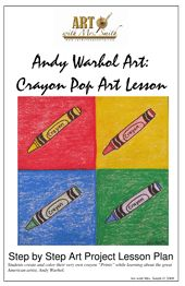 Andy Warhol Art; this might be a nice intro to Art class for upper elementary. They can pick an art material to replicate.