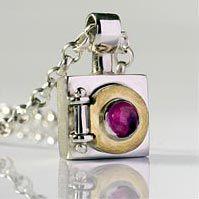 Beautiful Alan Ardiff Necklace - 'Door To My Heart'. The Gold Door opens to reveal heart.