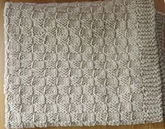 Sand/Natural Cotton Knitted Baby Blanket/ by KnitKnacksbySharon, $55.00