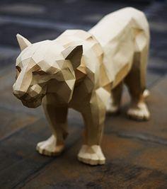 Paper kit Tiger. DIY #Liselefebvre #paperkittiger