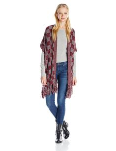 Derek Heart Juniors' Marled Pointelle Open-Front Cardigan Sweater >>> Review more details here : Fashion
