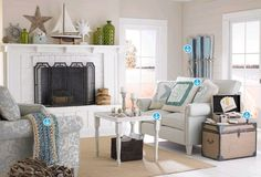 #Homedecor relaxing seaside inspired room. Visit Joann.com or Jo-Ann Fabric and Craft stores to find your inspiration!