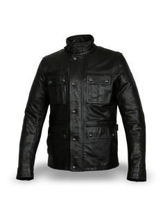 Roger Black Men/'s Classic Style Suede Collar Real Sheep Leather Shirt Jacket
