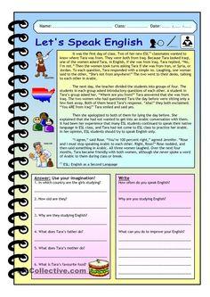 Imaginative Reading Comprehension - Let´s Speak English