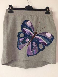 Manually painted skirt