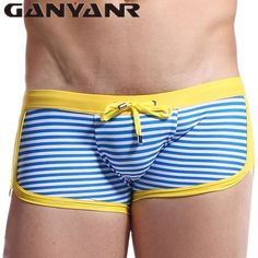 Flower Plaid Men Swimwear Trunks Sunga Pocket Men Swimming Suit Trunks Boxer Briefs Men Bikini Shorts