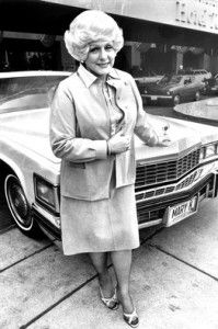 Mary Kay Ash with the first pink Caddillac