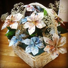 Creative Money Gifts, Wedding Gifts, Centerpieces, Bouquet, Ideas Originales, Gift Wrapping, Cool Stuff, Cute, Diy