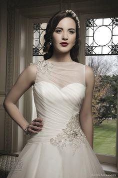 justin alexander 2014 wedding dress style 8685 beaded shoulder hip closeup bodice