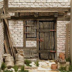 The Imthurn method for building miniatures Vitrine Miniature, Miniature Rooms, Miniature Houses, Miniature Furniture, Christmas Nativity Scene, Fairy Garden Houses, Tiny World, Little Houses, Construction