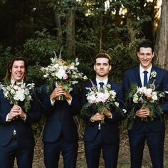 #Blooms on Darby #nicksims #nicksimsphotography #huntervalley #wedding #flowers #bride #romantic #foliages #blush #cream #bouquet #informal #groom #groomsmen #navy #suit