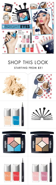 """Turn Around, Bright Eyes"" by vampirella24 ❤ liked on Polyvore featuring beauty, Bobbi Brown Cosmetics and Christian Dior"