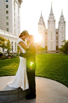 Love this angle way more than the typical salt lake temple photos Wedding Wishes, Wedding Pics, Wedding Bells, Wedding Ideas, Wedding Stuff, Perfect Wedding, Dream Wedding, Temple Wedding, Here Comes The Bride