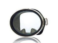 ProBlue Маска классическая для плавания, круглое стекло, черный силикон