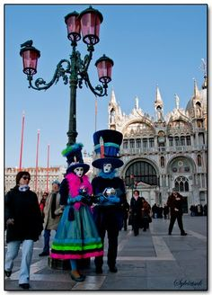 Venetian Carnevale (Latin carne & vale, farewell to meat) is a pre-Lenten celebration when exquisite Venice becomes the backdrop for stunningly costumed Venetians.  Over three million people come every year to be part of this celebration.