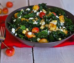 Need a little detox food? Massaged Kale salad with cherries