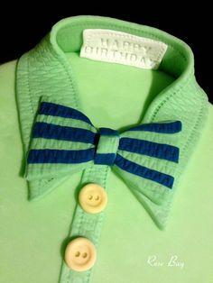 Green Bow Tie Shirt Cake