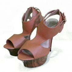 Privileged Wood Platform Heels- size 8 Privileged Wood Platform Heels- size 8 Privileged Shoes Heels