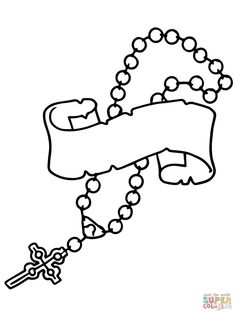 Creative Photo of Rosary Coloring Page Rosary Coloring Page Rosary Beads Coloring Page Free Printable Coloring Pages Cross Coloring Page, Heart Coloring Pages, Easter Coloring Pages, Free Printable Coloring Pages, Coloring Pages For Kids, Coloring Books, Free Coloring, Adult Coloring, Rosary Bead Tattoo