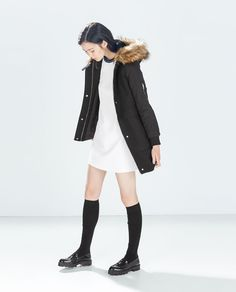 Image 1 of OVERCOAT WITH HOOD from Zara