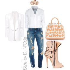 A fashion look from November 2014 featuring Frank & Eileen tops, MANGO blazers and Giuseppe Zanotti ankle booties. Browse and shop related looks.