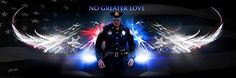 Police Officer Art Print -To Protect And To Serve-Really Large Picture-Framed With 1 1/2 Inch Black Leather Frame With Red & Blue Lines On Each Side