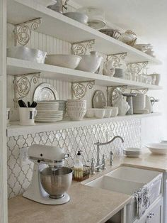 Love the tile backsplash!