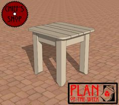 Plan of the Week: Patio Side Table #woodworking