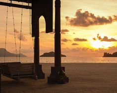Just you, the sunrise, and the Andaman Sea, Malaysia, at Four Seasons Resort Langkawi