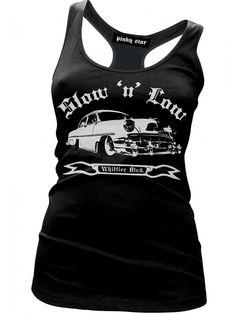 """Women's """"Slow 'N' Low"""" Racerback Tank by Pinky Star (Black) #InkedShop #tanktop #tank #top #style #fashion #womenswear #womensclothing"""