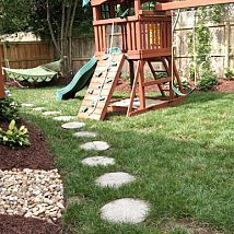 Backyard Playscape Designs small backyard landscaping ideas for kids with playground Back Yard Total Makeover