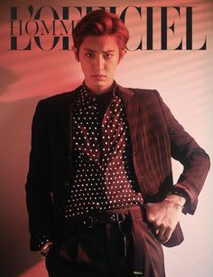 Chanyeol is dark and mysterious for the cover of 'L'Officiel Hommes' | allkpop.com