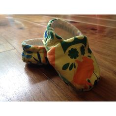 Cotton slippers in woodland fabric. Mabel & Monkey