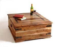 Beau Wooden Square Chest What I Want As A Coffee Table