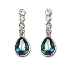 Swarovski Meringue Montana Earrings  (Valentines Gifts for Wife)