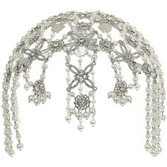 Miss Selfridge Jewel Crystal Head Dress (66 BRL) ❤ liked on Polyvore featuring accessories, hair accessories, jewelry, crowns, hats, multi, jeweled hair accessories, crystal hair accessories, crystal crown and miss selfridge