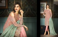 Asim Jofa Original Pink Full embroidered 3 piece suit - MADE to order by WardaShop on Etsy Asim Jofa 2017, Embroidered Clothes, 3 Piece Suits, Casual Party, Party Wear, Desi, That Look, Saree, Glamour