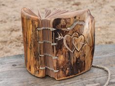 I LOVE this guestbook!   Wedding+guest+book+wood+rustic+wedding+guest+book+by+crearting,+$95.00