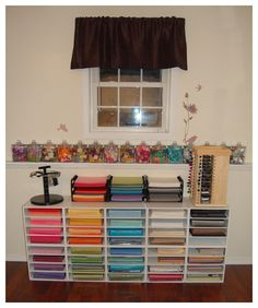 {Organization} Clean White Craft Room with a Whole Lot of Storage - Scrap this...and that! | Scrap this...and that!