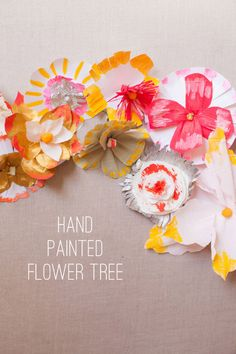 Hand Painted Flower Tree | Oh Happy Day!