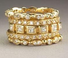 Doris Panos diamond guard rings