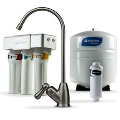 d2e1eacc69 Aquasana OptimH2O Reverse Osmosis Claryum Under-Counter Water Filtration  System with Brushed Nickel Faucet