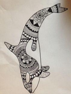 #zentangle orca